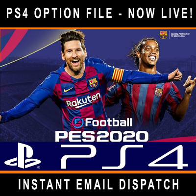PRO EVO eFOOTBALL PES 2020 PS4 OPTION FILE - ALL TEAMS KITS ETC - NOW LIVE!