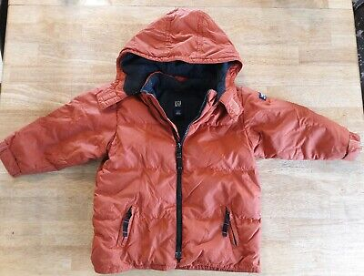 Toddler Boys Baby Gap Burnt Orange Winter Coat Size 2T VGUC