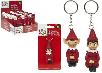 "2"" Hand Painted Elf Key Ring  Props On The Shelf Ideas Toy Christmas Decoration"