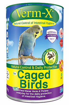 Verm-X Pellets For Cage Birds 100g Promote Good General Health, Use Daily