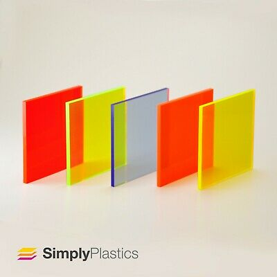 RED PLASTIC ACRYLIC PERSPEX SHEET CUSTOM PANEL IDEAL FOR SPLASH BACKS 5MM THICK