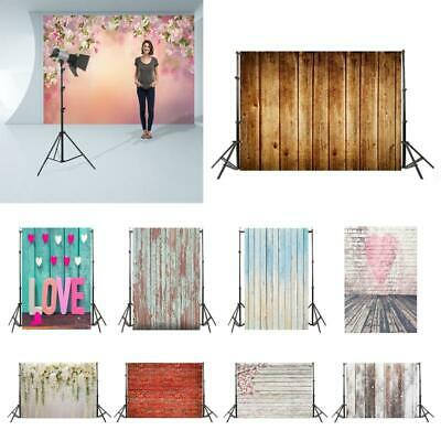 Retro Wood Board Studio Photography Backdrop Photo Stand Background Props Cloth
