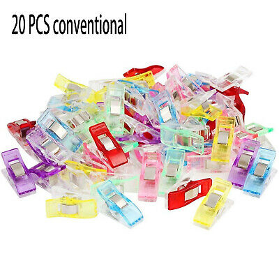 20/50 /100pc Clear Clips Sewing Craft Quilt Binding Plastic Holding Wonder Clamp