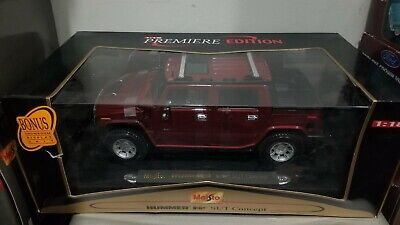 HUMMER H2 SUT Concept MAISTO SPECIAL EDITION Diecast 1:27 Scale Maroon