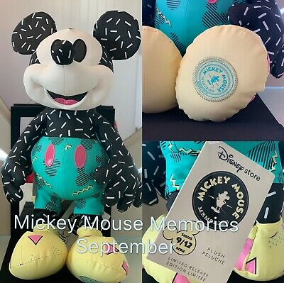 NWT Disney Store September Mickey Mouse Memories Plush Limited Release