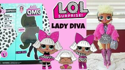 LOL Surprise OMG Lady Diva Fashion Doll With 20 Surprises Ready To Ship!
