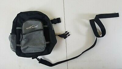 "Eddie Bauer Toddler Black/Gray Backpack Harness w/ 43"" Safety Lead"