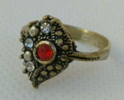 Extremely Rare Ancient Antique Roman Ring Silver Color Amazing
