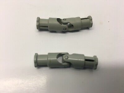 2 Lego Technic Universal Joints 4L Light Grey Part 9244