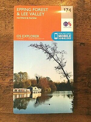 OL174  Epping Forest & Lee Valley Ordnance Survey Explorer Map Hertford & Harlow
