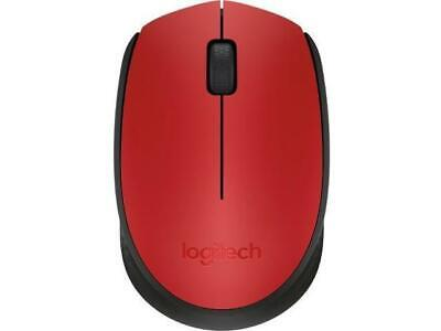 Logitech M170 Wireless Optical Mouse Red Clamshell 910-004941
