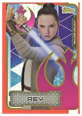 Star Wars Journey To The Last Jedi Limited Edition LESA Rey Resistance TOPPS 17
