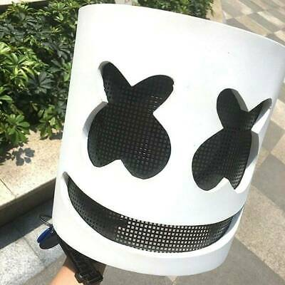 Marshmello Mask Cosplay Costume Accessory Helmet for Halloween Party Supply AU