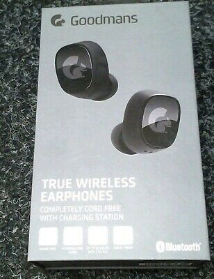 Goodmans True Wireless Earphones Buds Black Squirrel Bluetooth  Rechargeable