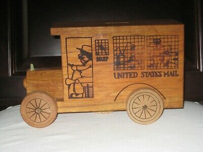 Vintage 1976 Toystalgia Wooden United States Mail Truck Delivery
