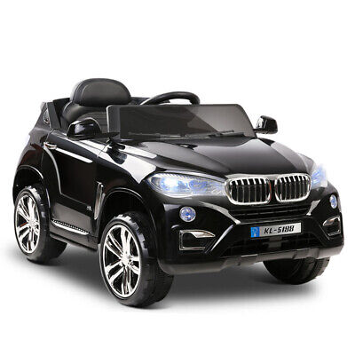 RIGO Kids Ride On Car Electric Toys Battery 12V Remote Control Black Cars SUV