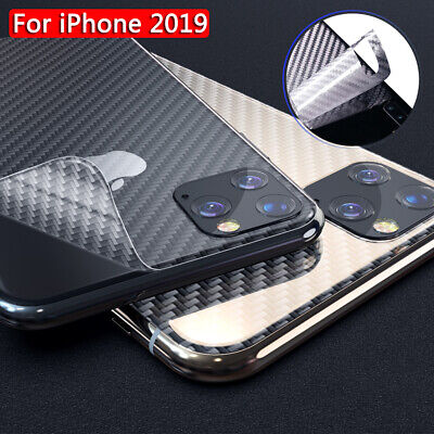 5-Pack Carbon Fiber Back Cover Film Screen Protector For iPhone 11 Pro Max XS XR