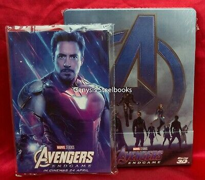 Avengers: Endgame 3D/Blu-ray Steelbook * Region Free + Art Cards * NEW