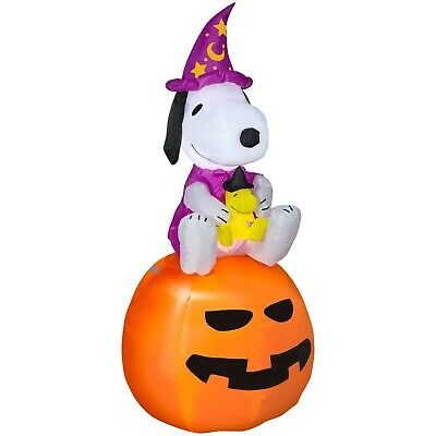 Halloween Gemmy 5' Airblown Inflatable Peanuts Snoopy Lights Up Outdoor Yard