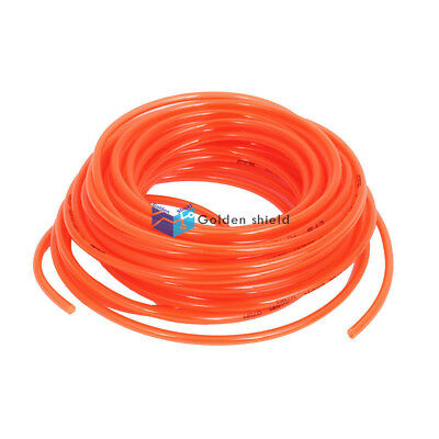 A● 6 Meters Length 6mm x 4mm Polyurethane Coiled Air Hose Pipe Orange