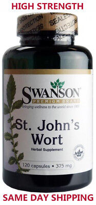 St Johns Wart 375 mg - 120 Capsules - Help with Anxiety & Depression