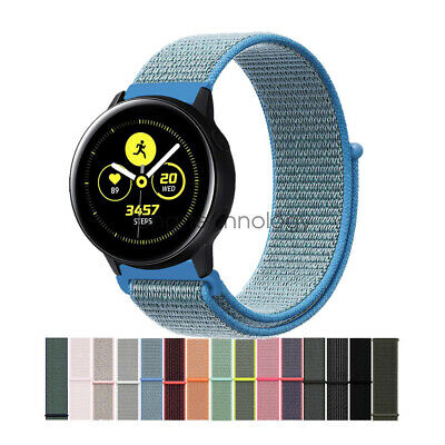Woven Nylon Sport Loop Wrist Watch Band For Samsung Galaxy Watch Active /2 Strap