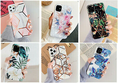 F iPhone 11 Pro Max XS XR Shockproof Leaves Flowers Cute Girls Phone Cover Case