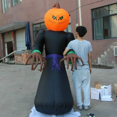 Halloween Airblown Inflatable Pumpkin Reaper Ghost Outdoor Party Decor Yard