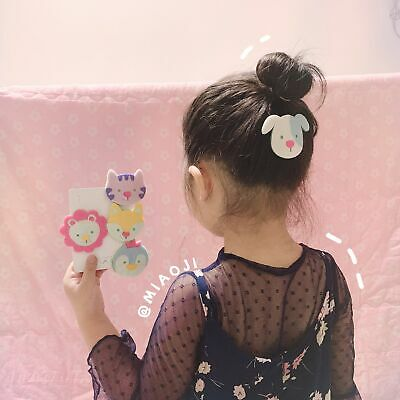 Fashion Girls Cartoon Animal Pattern Hair Snap Clips Barrette Hairpin Bobby Pin