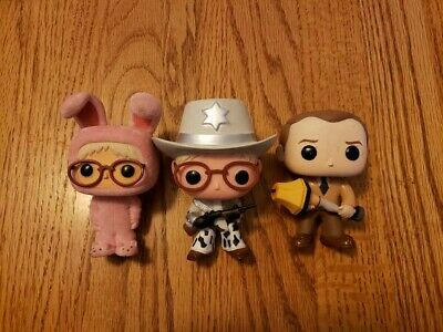 Funko Pop! A Christmas Story Flocked Ralphie Old Man Lot Loose OOB NO BOX