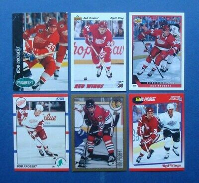 Lot of **Bob PROBERT** NHL Hockey Cards *Detroit Red Wings* *Chicago Blackhawks*