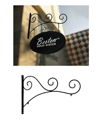 Architectural Antique Wall Blade Hanging Sign Kit / Wrought Iron Sign Set
