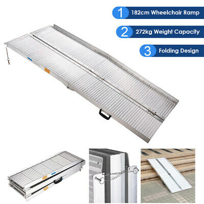 1.8m Aluminum Portable Folding Wheelchair Ramp Mobility Handicap Scooter Access