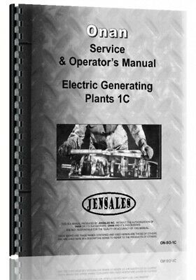 Onan C1 Electric Generating Plants Service & Operators Manual