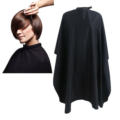 Salon Hair Cut Hairdressing Barbers Cape Cloth Gown Hairdresser Waterproof Black