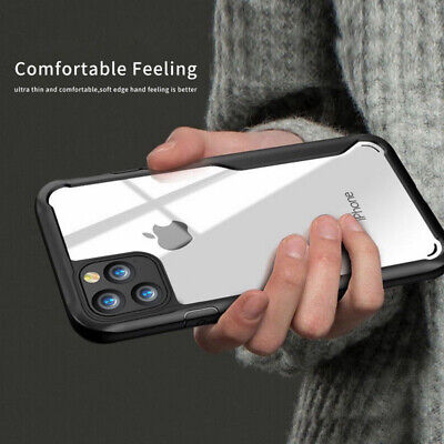 For iPhone 11 Pro Max Shockproof Clear Soft Bumper Arylic Hybrid Back Case Cover