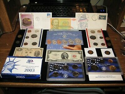 JUNK DRAWER Coin Lot $2 Red Seal 1991 Mint Set 2003 PROOF Set 1st Day Issue