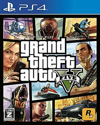 """USED PS4 PlayStation 4 Grand Theft Auto V [CERO rating """"Z""""] 74034 JAPAN IMPORT"""