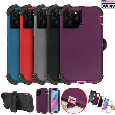 For iPhone 11 Pro Max Hybrid Rugged Heavy Duty Shockproof Case Cover + Belt Clip