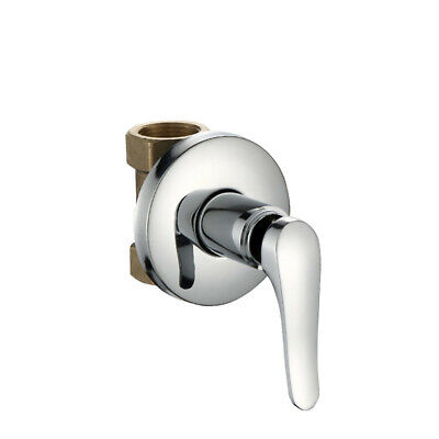 Solid Brass Cartridge Concealed Faucet 1/2 Shower Control Switch Valve Only Cold