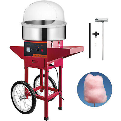 Cotton Candy Machine w/ Cart & Cover Sugar Maker Party Stepless Temp Control