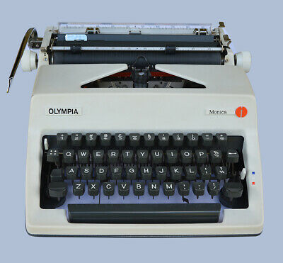 OLYMPIA Monica Portable Vintage Working Typewriter 1960's - Excellent Condition