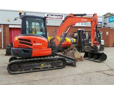 KUBOTA U55-4 - Year: 2016 under 1000 hours mini Excavator