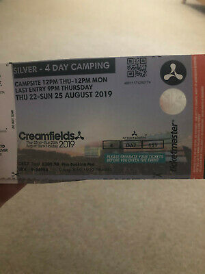 Creamfields 2019 - Silver 4 day Camping ticket
