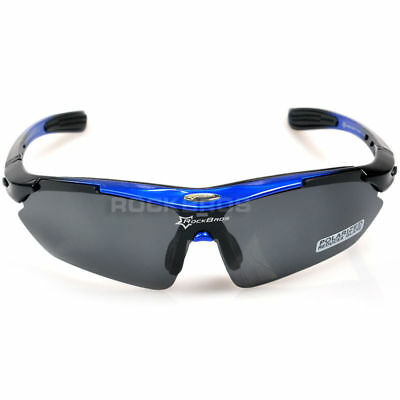 RockBros Polarized Cycling Sunglasses Outdoor Sports Sunglasses Blue New
