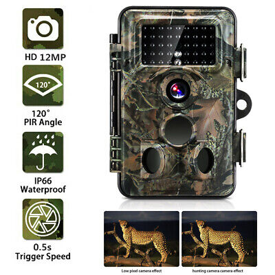 12MP Hunt Trail Camera Low Glow Outdoor Tree Cam Night Vision Motion Activated M