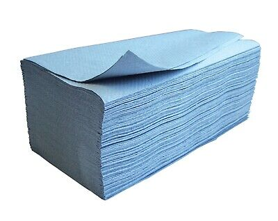 Sterling 1ply Blue Interleaved Paper Hand Towels Case of 3000 Bathroom Business