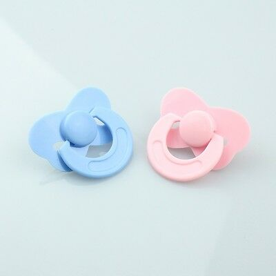 2019 Pink Blue Tiny Pacifier Dummy Fit Reborn Baby Dolls Baby Gift Accessories