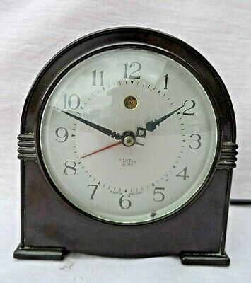 Vintage Smith Sectric Bakelite Art Deco Electric Mantle Clock Gwo Rewired Vgc