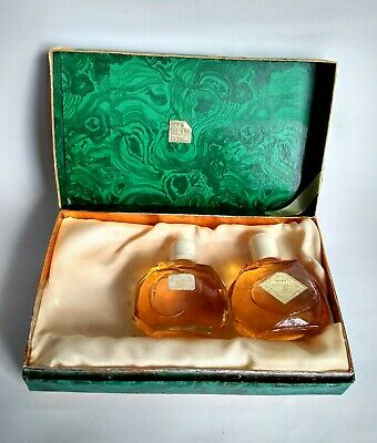 Vintage 1978 USSR Soviet Russian Perfumes from Set Malachite Box, Moscow + Gift